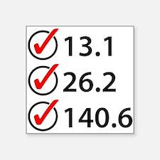 Marathon Triathlon Checklist Sticker