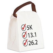 Running Checklist Canvas Lunch Bag