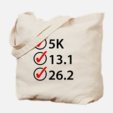 Running Checklist Tote Bag