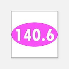 Pink 140.6 Triathlon Oval Sticker