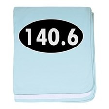 140.6 Triathlon Oval baby blanket