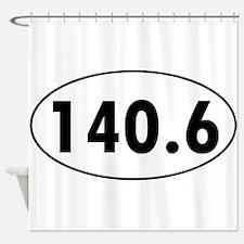 140.6 Triathlon Oval Shower Curtain
