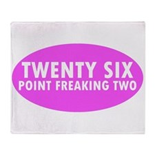 Pink Twenty Six Point Freaking Two Oval Throw Blan