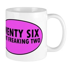Pink Twenty Six Point Freaking Two Oval Mugs