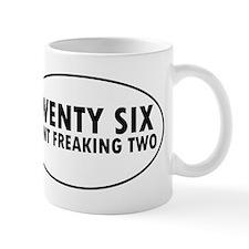 Twenty Six Point Freaking Two Oval Mugs