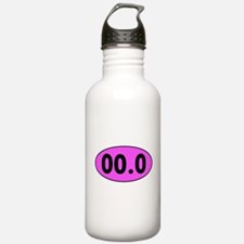 Pink 00.0 Running Oval Sports Water Bottle