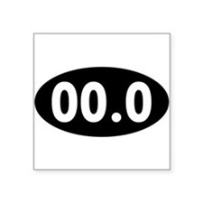 00.0 Running Oval Sticker
