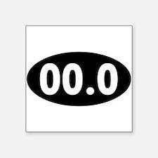 00.0 Running Oval Sticker