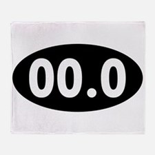 00.0 Running Oval Throw Blanket