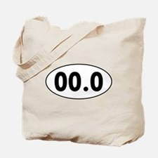 00.0 Running Oval Tote Bag