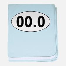 00.0 Running Oval baby blanket