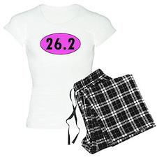 Pink 26.2 Marathon Oval pajamas