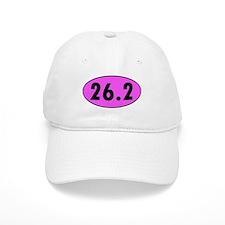 Pink 26.2 Marathon Oval Baseball Cap