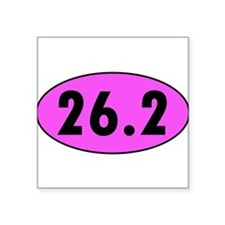 Pink 26.2 Marathon Oval Sticker