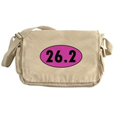 Pink 26.2 Marathon Oval Messenger Bag