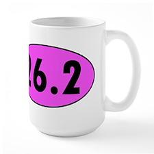 Pink 26.2 Marathon Oval Mugs