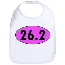 Pink 26.2 Marathon Oval Bib