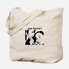 Que Horror! BW Stenciled Tote Bag