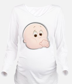 Baby Face 1 Long Sleeve Maternity T-Shirt