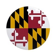 State Flag of Maryland Ornament (Round)