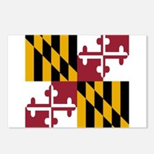 State Flag of Maryland Postcards (Package of 8)
