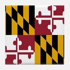 State Flag of Maryland Tile Coaster