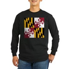 State Flag of Maryland Long Sleeve T-Shirt