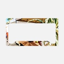 Country Herbs License Plate Holder