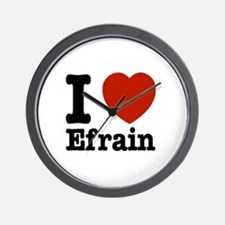 I love Efrain Wall Clock