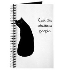 Cats Like Obedient People Journal