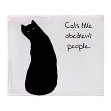 Cats Like Obedient People Throw Blanket