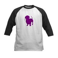 dachshund purple 1 Baseball Jersey