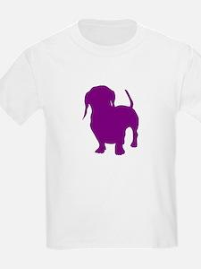 dachshund purple 1 T-Shirt