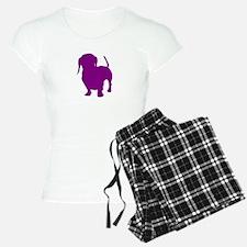 dachshund purple 1 Pajamas