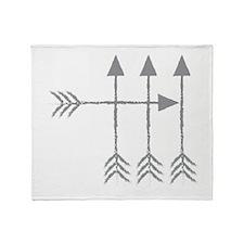 4 Four arrows Throw Blanket