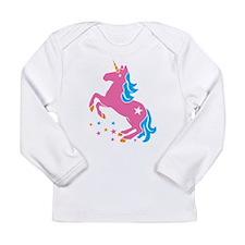 Pretty pink unicorn Long Sleeve T-Shirt