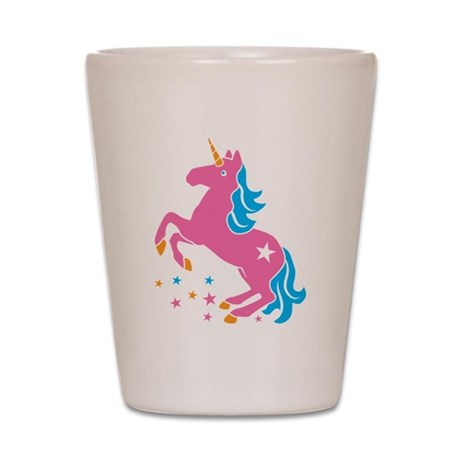 Pretty pink unicorn Shot Glass
