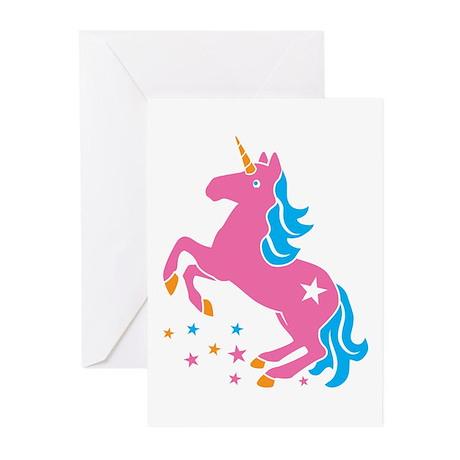 Pretty pink unicorn Greeting Cards