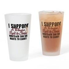Womans Right to Choose Drinking Glass