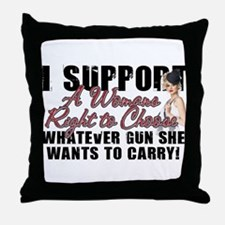 Womans Right to Choose Throw Pillow