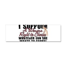 Womans Right to Choose Car Magnet 10 x 3