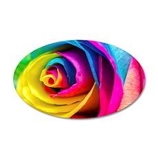 Rainbow Rose Wall Decal