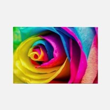 Rainbow Rose Rectangle Magnet