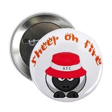 "Sheep on Fire 2.25"" Button"
