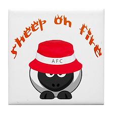 Sheep on Fire Tile Coaster
