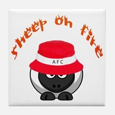 Sheep on Fire Tile Coaster
