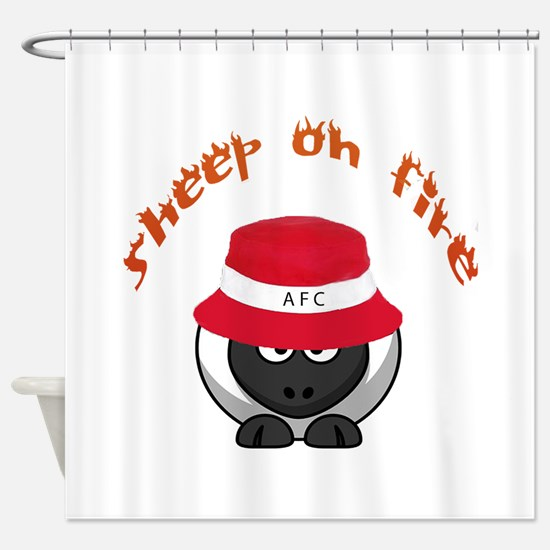 Sheep On Fire Shower Curtain
