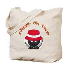 Sheep On Fire Tote Bag