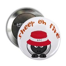 "Sheep On Fire 2.25&Quot; 2.25"" Button"