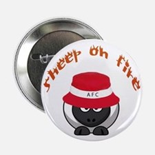 """Sheep On Fire 2.25&Quot; 2.25"""" Button"""